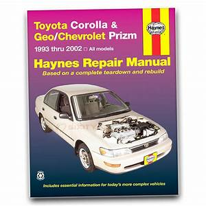 Haynes Repair Manual For Toyota Corolla S Ve Dx Ce Base Le