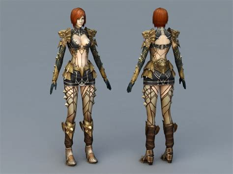 Sexy Mage Concept Art 3d Model 3ds Max Files Free Download