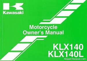 2014 Kawasaki Klx140  L Motorcycle Owners Manual   99987