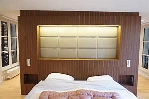 Dressing Derrière Tete De Lit : agencement t te de lit int grant rangements et dressing ~ Premium-room.com Idées de Décoration