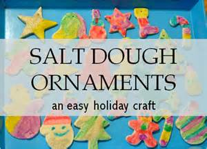 christmas craft salt dough ornaments south shore mamas