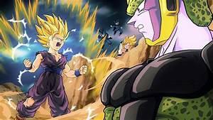 gohan vs cell||gohan ssj2 vs perfect cell|| full fight HD ...