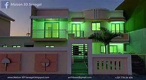 Modern House Design 3d Facade In Senegal
