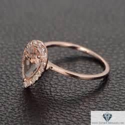 gold shaped engagement ring pear shape morganite engagement ring gold iturraldediamonds