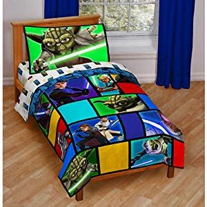 Wars Bed Sheets by Wars The Clone Wars 4pc Toddler Bed Set