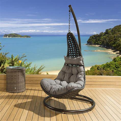 outdoor modern garden outdoor hanging chair black rattan