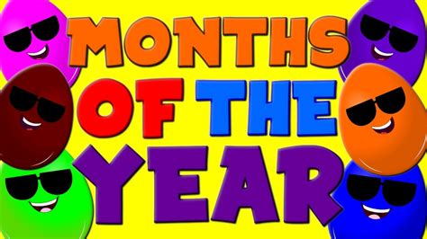 Months of the Year Song | 12 Months of the Year | Nursery ...