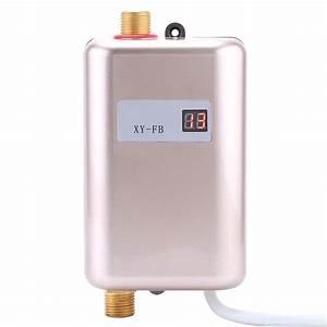 Chauffe Eau Electrique Instantané : 3400w mini chauffe eau instantan electrique temp rature ~ Dailycaller-alerts.com Idées de Décoration