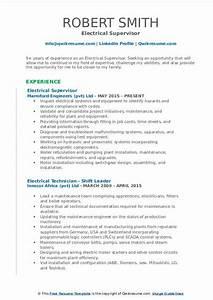 Maintenance Resume Example Electrical Supervisor Resume Samples Qwikresume