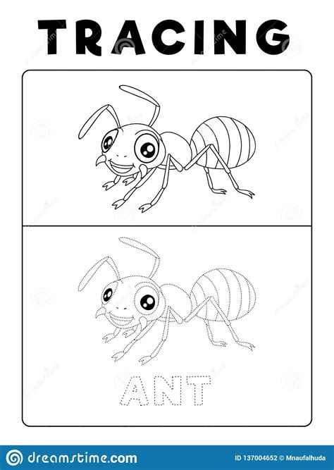 funny ant insect animal tracing book