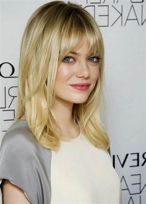 image result for medium haircuts with bangs for fine hair