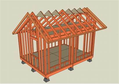 Plans Tiny Solar Shed Saltbox Roof Framing