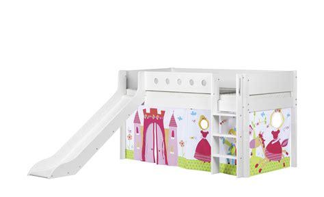 Flexa Halbhohes Bett Mit Rutsche 90x200 Weiß Flexa White