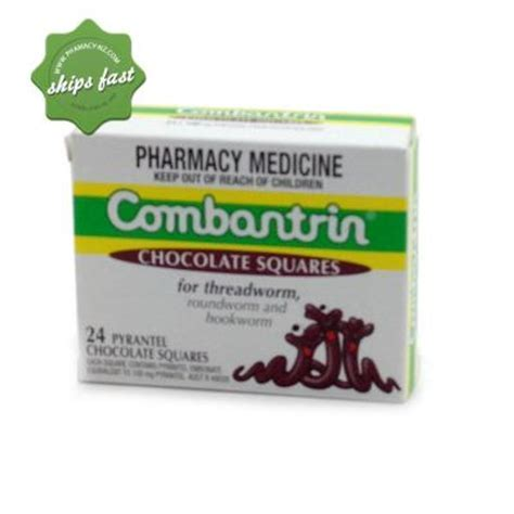 Combantrin Chocolate Squares 24 Pack   Worming Tablets