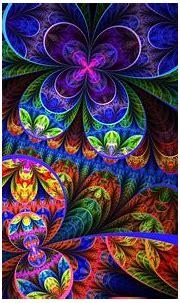 Colorful fractal flowers - Design wallpaper