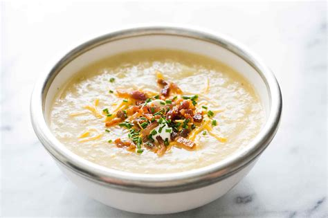 of potato soup baked potato soup recipe simplyrecipes com
