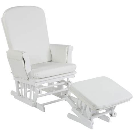 rocking chair chambre bébé fauteuil allaitement simili cuir blanc de quax fauteuils