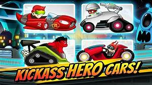 Superheroes Car Racing Cartoon Racing Games For Children