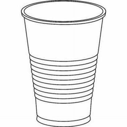 Cup Plastic Drawing Solo Clear Dart Oz