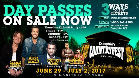 country fan fest 2017 lineup dauphin s countryfest 2017 limited tickets remaining