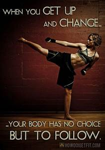 nike workout quotes | ... up and change, fitness saying ...