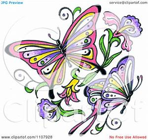 Clipart Flowers And Butterflies | Clipart Panda - Free ...