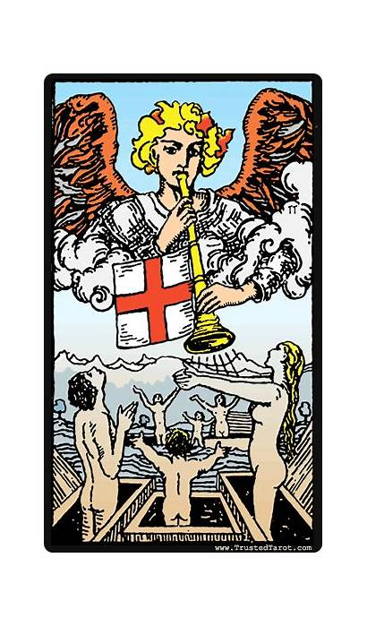 Tarot Judgement Card Judgment Cards Xx Rider