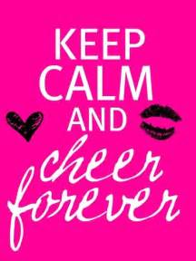 keep calm cheer quotes quotesgram