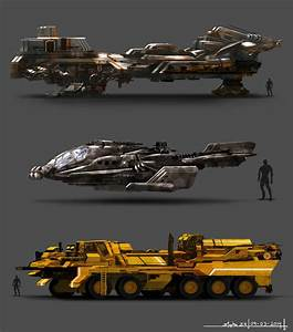 Sci-Fi Vehicles by Alpha-Step on DeviantArt
