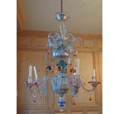 vendu lustre en verre de murano 224 cinq branches