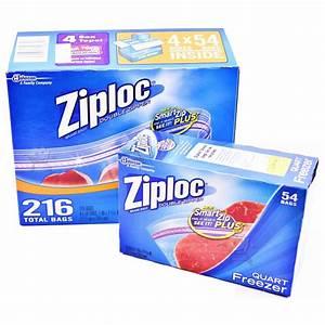 Freezer Bags ZIPLOC Bags Ziplock Double Zipper Heavy Duty ...