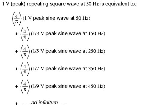 Form Factor Of Square Wave by Square Wave Signals Mixed Frequency Ac Signals