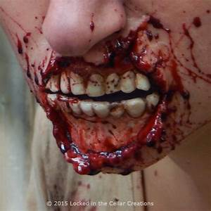 Ripped Zombie Mouth (medium) - Locked in the Cellar Creations