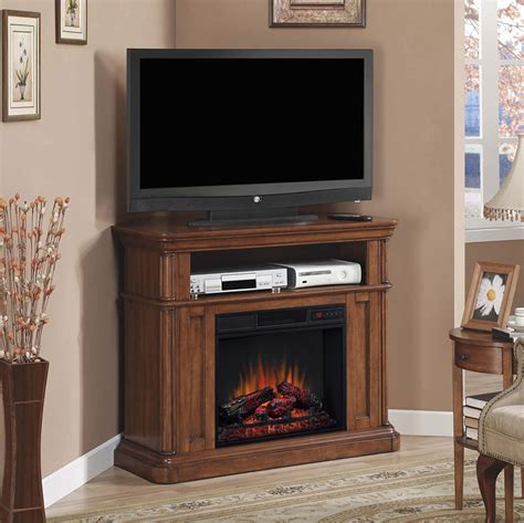corner electric fireplace oakfield wall or corner electric fireplace media console