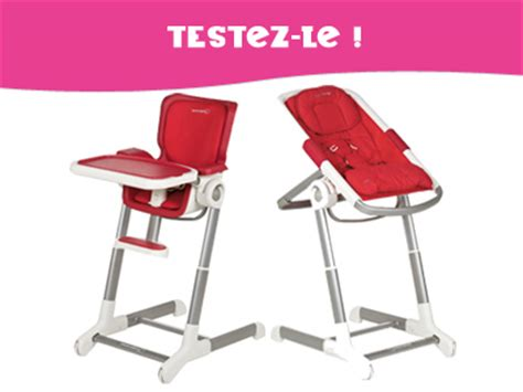 chaise haute transat bébé testez pour enfant magazine ce mois ci un ensemble