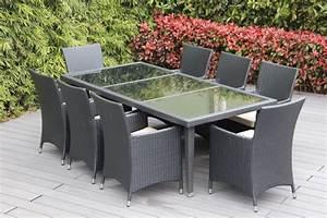 Genuine 29 piece ohana wicker patio furniture set outdoor for 10 piece wicker sectional sofa set outdoor furniture