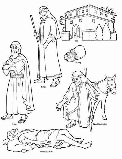 Samaritan Bible Coloring Character Pages Netart Printable
