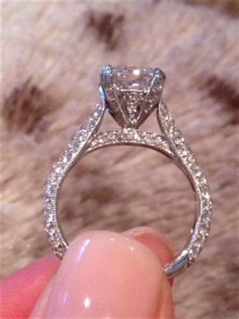 cushion cut micro pave engagement ring weddingbee