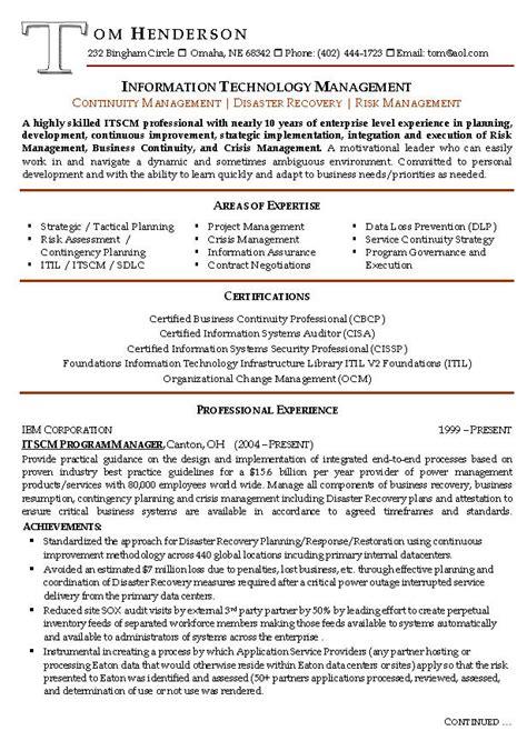 risk management resume  sample management resumes