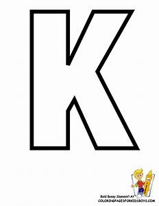 free coloring pages of large letter k With medium sized letter stencils
