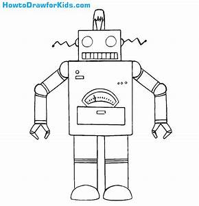 How to Draw a Robot for Kids | HowtoDrawforKids