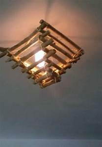 Luminaire Fait Maison : lustre en bois flott luminaires esprit nature fait ~ Melissatoandfro.com Idées de Décoration