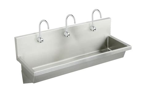 wall hung stainless steel sinks faucet com ewma7220sactmc in stainless steel by elkay