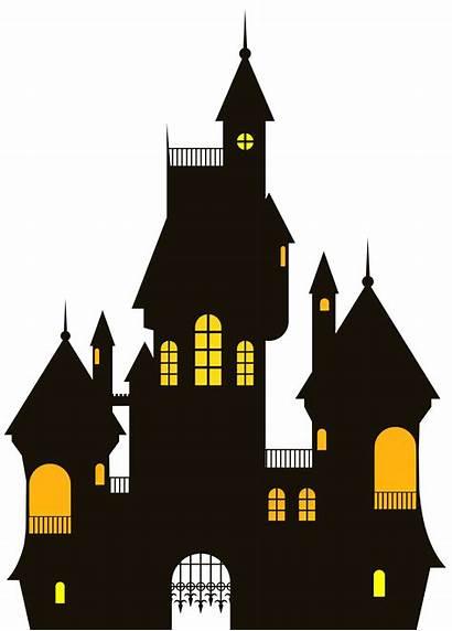 Castle Halloween Clipart Clip Border Andrzejki Scary
