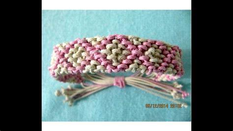 pulseras bracelets macrame rombos rellenos paso  paso
