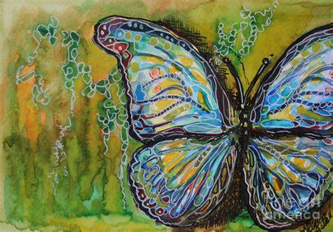 batik green butterfly  michele hollister  nancy asbell