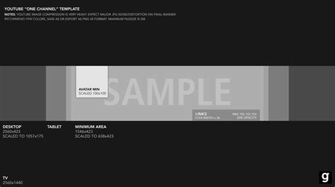 Template Banner Youtube 2015 Youtube Banner Template