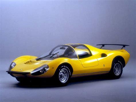 Ferrari 275 gtb, 274 gtb/4 , 365 gtc , 246 gt and the avantguard 365 gt4 bb. Photo FERRARI DINO 206 GT concept-car 1967 - médiatheque Motorlegend.com