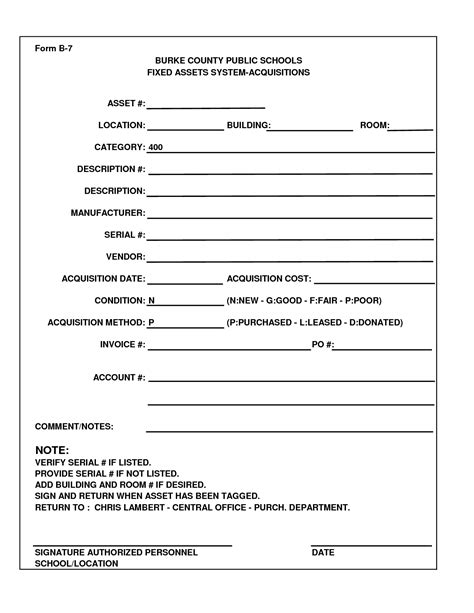 things that need fixed template 7 best images of sle fixed asset forms fixed asset