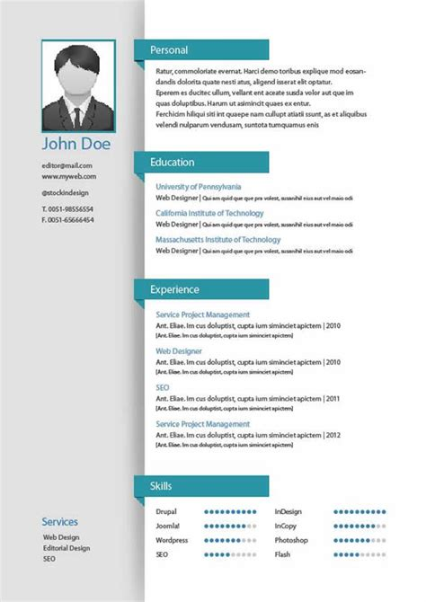 templates de curriculo para download best 25 plantillas para curriculum vitae ideas on